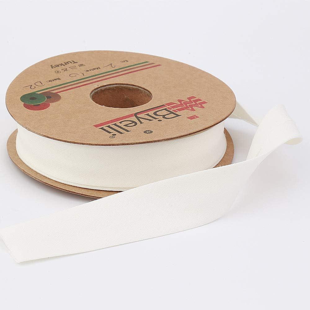 20mm-13//16inch DIY Garment Accessories 10meters-10.93yds Single Fold Various Colors Cotton Bias Binding Tape Beige