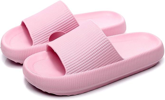 Pillow Slippers for Women Men Platform Home Bathroom Spa Massage Foam Shower Slide Sandals