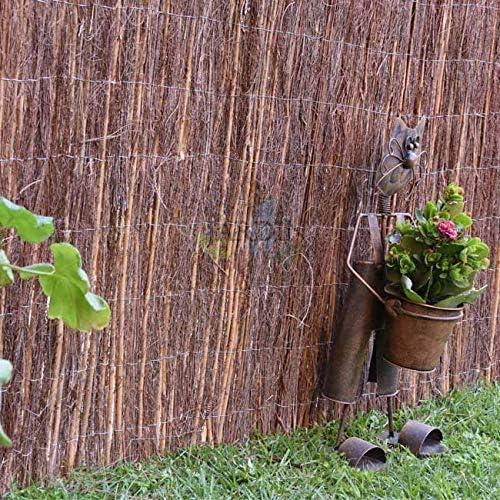 VALLA OCULTACION de Brezo combinado con Mimbre. (1 x 3 m): Amazon.es: Bricolaje y herramientas