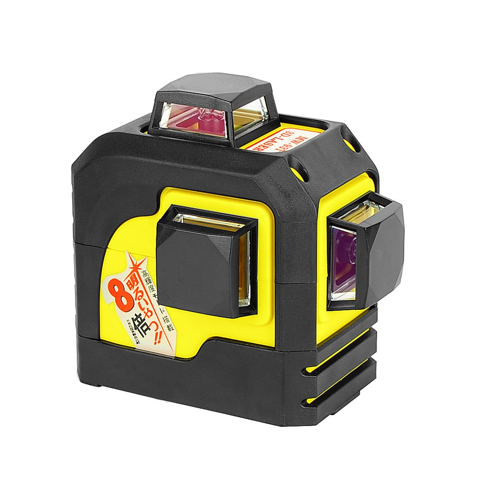 Firecore 93TR Professional 3 Plane Laser Level Self-Leveling tool, Red(Batteries included)