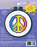 Dimensions Learn-A-Craft 'Rainbow Peace' Mini Counted Cross Stitch Kit for Beginners, 3''