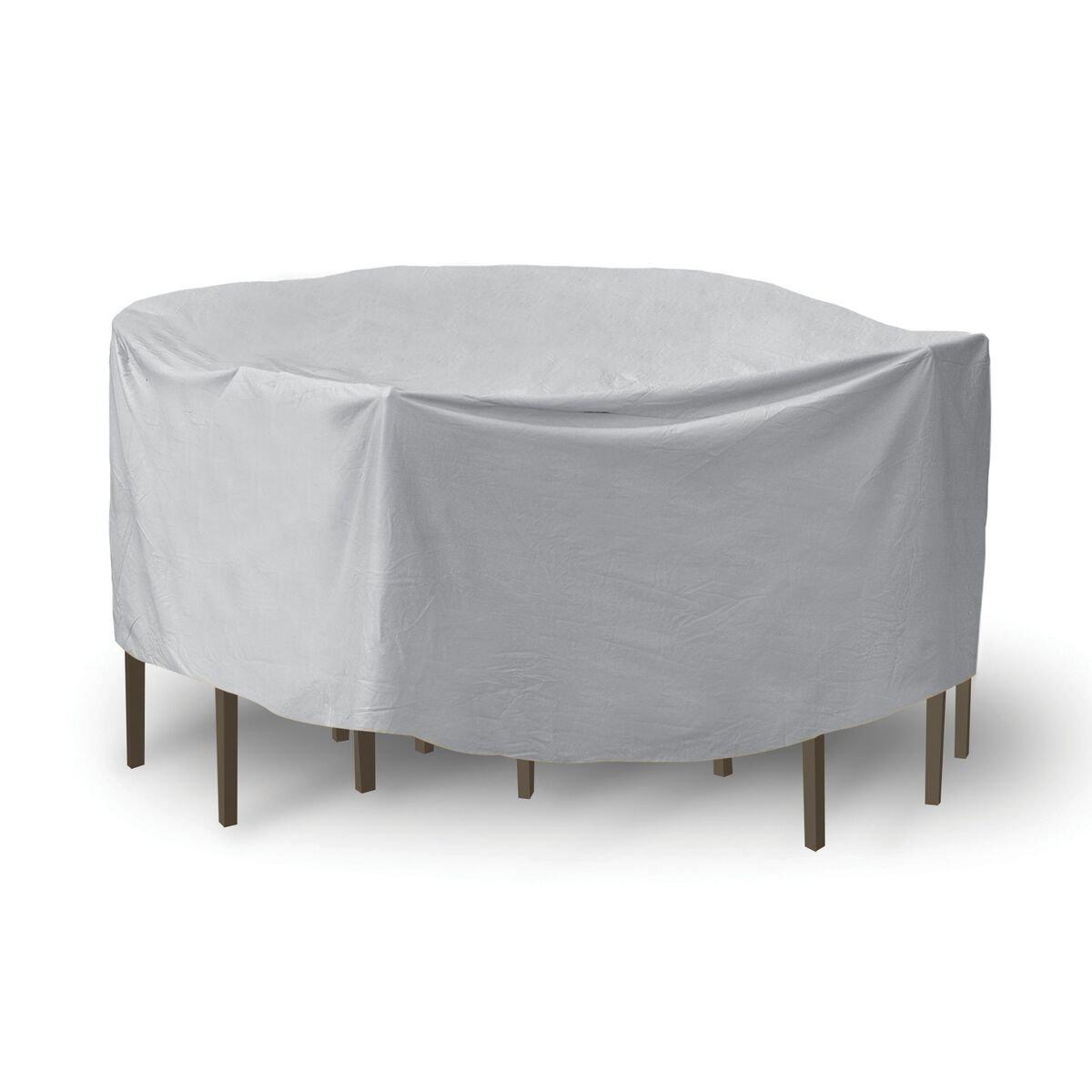 Schutzhüllen wetterfest Patio Tisch und Stuhl Set Cover, 121,9 x 137,2 cm, runder Tisch, grau