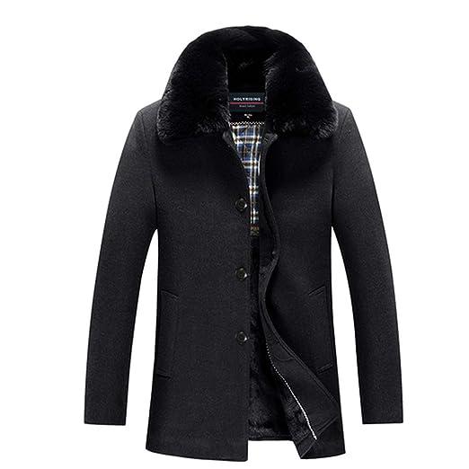 Hollday-store Men Thick Wool Coat Jacket Man Chaquetas ...