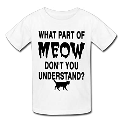 Hailin Tattoo Boys Girls Tshirt What Part Of Meow Don't You Understand Modern Fit Short Sleeve T Shirt Fashion Couple Tees
