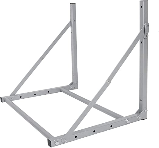 Folding Tire Wheel Rack Storage Holder Heavy Duty Garage Wall Mount 300Lb New