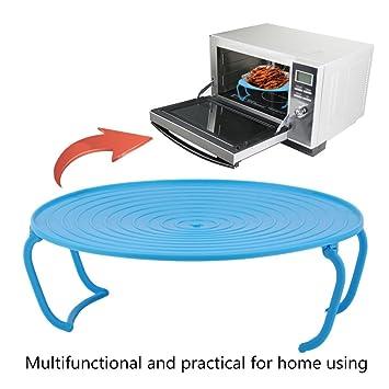 Gugutogo bandeja multifuncional para microondas con tapa apilable para horno o cocina, ideal para el