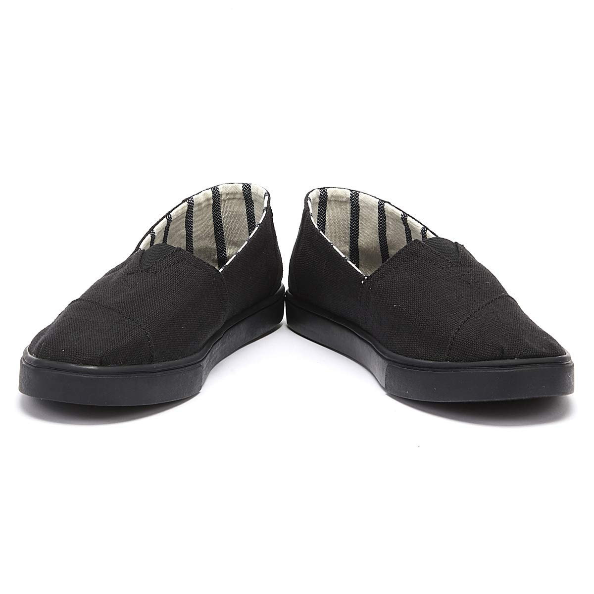 Amazon.com | TOMS Mens Cordones Lace-Up Sneakers (9 M US, Black/Black Heritage Canvas Cupsole) | Fashion Sneakers