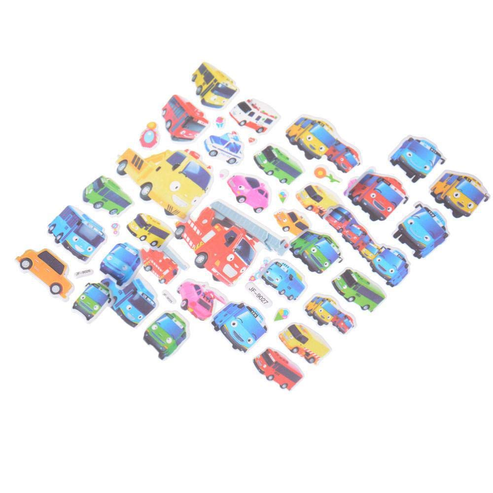 6pcs//Set Tayo The Little Bus Tag Pegatinas Juguetes 3D Cartoon Stickers Pegatinas Infantiles Kids Stickers in Notebook