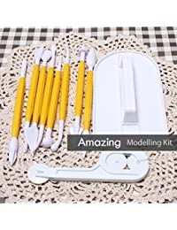 Want 10 Piece cake modelling decorating tool kit with fondant cutter and Embosser [version:x5.5] by DELIAWINTERFEL cheapest