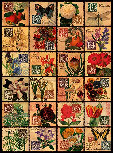 Ravensburger Vintage Flora 500 Piece Jigsaw Puzzle for Adults