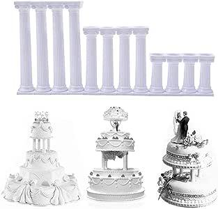 TEEPAO Molde para Tartas (4 Unidades), diseño de Columna Romana ...