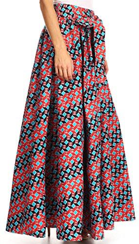 Vestito Stampa convertibile regolabile Sakkas cera 2293 Asma Turchese tradizionale rosso Maxi cinghia gonna w45qIAzxq