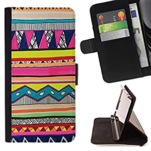- Hipstr Nebula Aztec Pattern - - Premium PU Leather Wallet Case with Card Slots, Cash Compartment and Detachable Wrist Strap FOR Samsung Galaxy A3 a3000 King case
