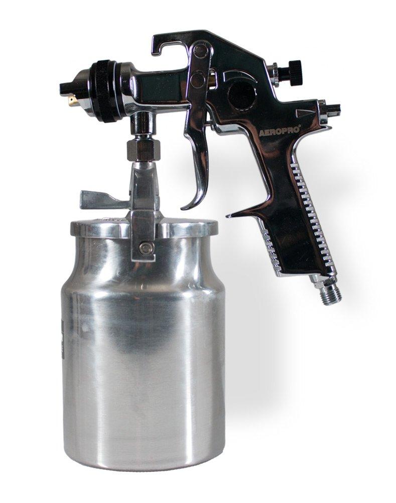 AEROPRO USA AS1005 HVLP Suction Feed Air Spray Gun, 1.4 mm Nozzle