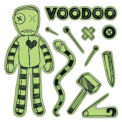 Voodoo Doll Inkadinkado Cling Stamps
