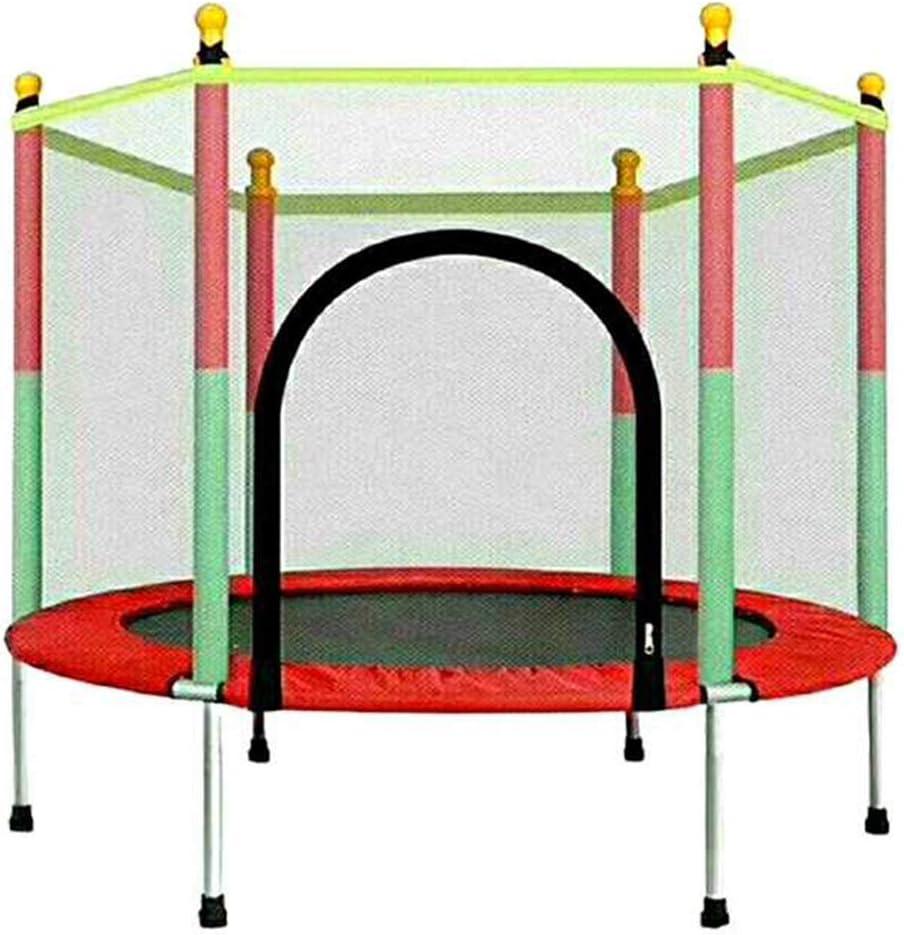 HANSHAN Trampolines Trampolín, Gran Trampolín De Jardín Al Aire Libre con Cerramiento Red Salto Spring Mat Rojo 55 × 48 Pulgadas: Amazon.es: Deportes y aire libre