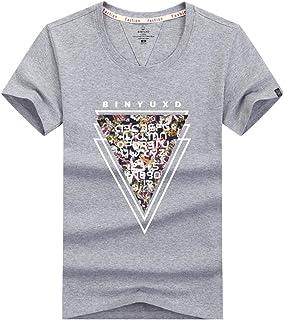 WHLTX T-Shirt pour Hommes avec Col Rond Et Manches Courtes en Pur Coton À La Mode Et Aux Dessins De Mode Manche Courte