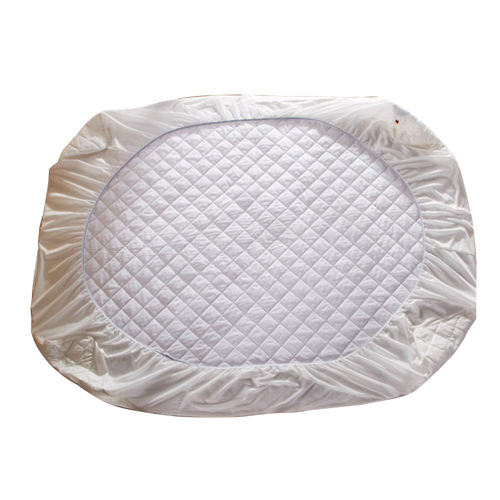 NATURETY 100% Cotton Quilted Mattress Pad Cover (Twin)