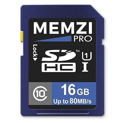 MEMZI PRO 16GB Class 10 80MB/s SDHC Tarjeta de memoria para Panasonic HC-VX870EB-K, HC-V160EB-K, HC-V770EB-K, HC-VXF990EB-K videocámaras digitales