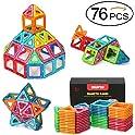 Quadpro 76-Pc Magnetic Blocks Building Magnet Tiles Toys Kit