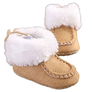 Binmer(TM) Baby Soft Sole Snow Boots Soft Crib Shoes Toddler Boots