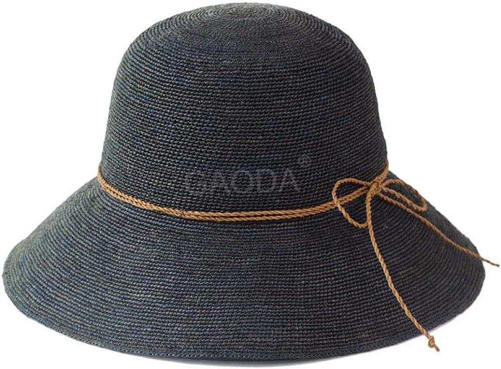 Zamoufm Gorro De Pescador Cuadros Sombrero De Paja Gorro De Pescador