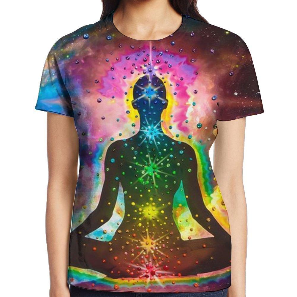Fri Yoga Meditating Tops Short Sleeve T-Shirt Lovely Round ...