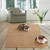 M&M Natural Sisal Cat Scratching Mat,Scratching Post for Cat/Kitty Grinding Claws & Protecting Furnitures(23.6''23.6'')