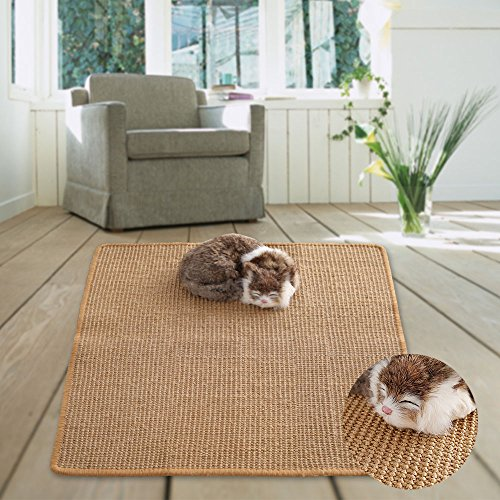 M&M Natural Sisal Cat Scratching Mat,Scratching Post for Cat/Kitty Grinding Claws & Protecting Furnitures(23.6''23.6'') by M&M