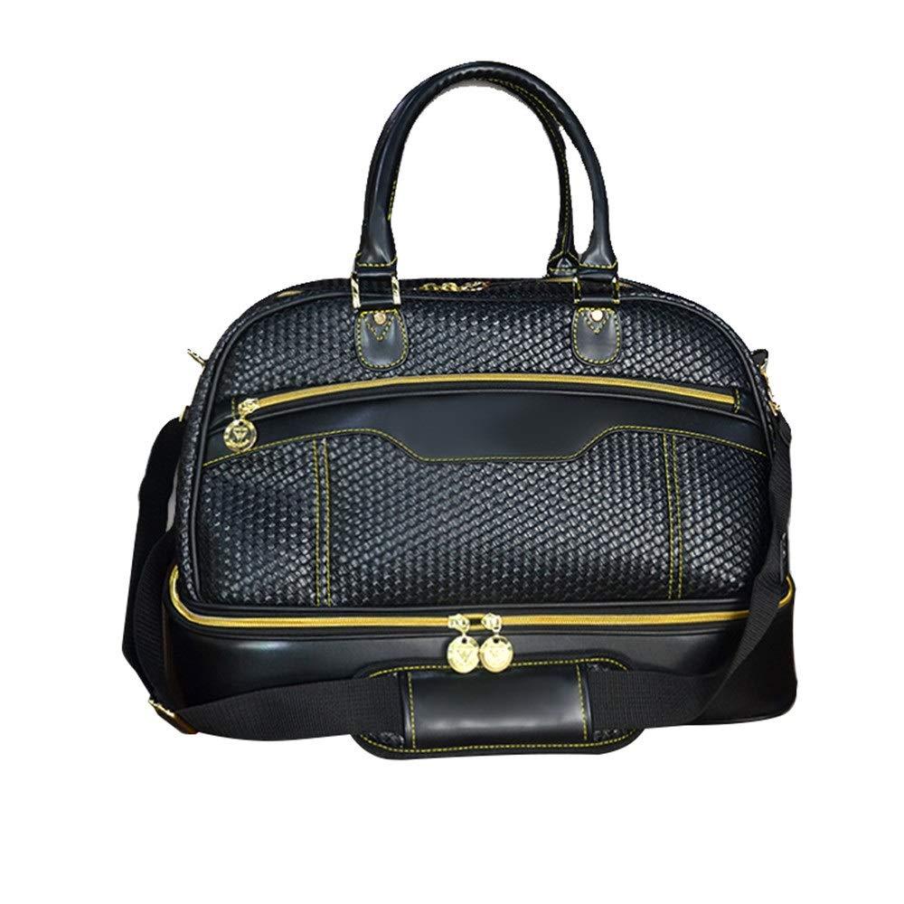 Disc Golf Bag Women Men Golf Multi-Purpose Clothing Bag Golf Tote Bag Lightweight Leather Large Capacity Gym Bag Travel Sports Luggage Bag High Capacity (Color : Black, Size : 462129cm)