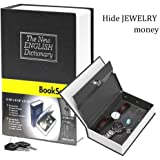 Pindia Dictionary Book Style Jewellery Money Safe Cash Box Locker with Key - 180x115x55 mm