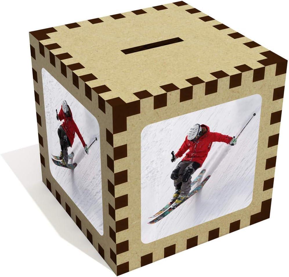 MB00002414 Stamp Press Grand Ski Tirelire en Bois