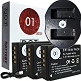 3x DOT-01 Brand Fujifilm X-T20 Batteries and Dual Slot USB Charger for Fujifilm X-T20 Mirrorless Digital Camera and Fujifilm XT20 Accessory Bundle for Fujifilm NPW126 NP-W126