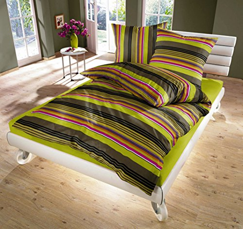 3 Piece Lime Green Duvet Cover Set (Queen,King) 1 Duvet Cover and 2 pillow shams Multi-color 100% Cotton - Luxurious, Comfortable, Breathable, Soft and Extremely Durable (King)