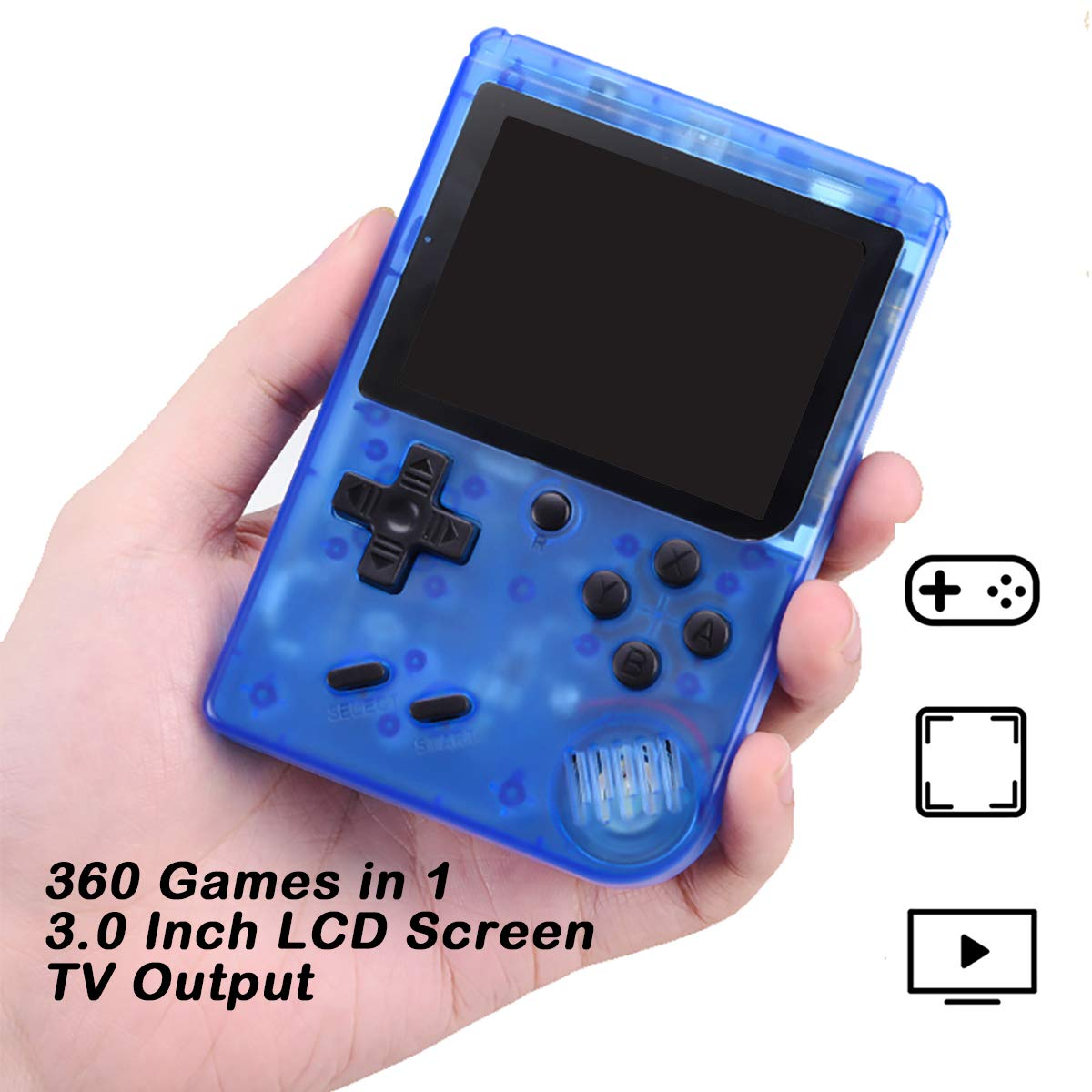 Efunlife Handheld Game Console, 360 Classic Games 3 Inch LCD Screen Retro FC System Portable Sized Game Console Support AV Out TV, Good Gift for Boy Kids by Efunlife (Image #3)
