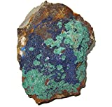 Azurite Cluster 01 Blue Gemstone Precious Green Malachite Natural Power Intense Healing Stone Crystal 6.5''