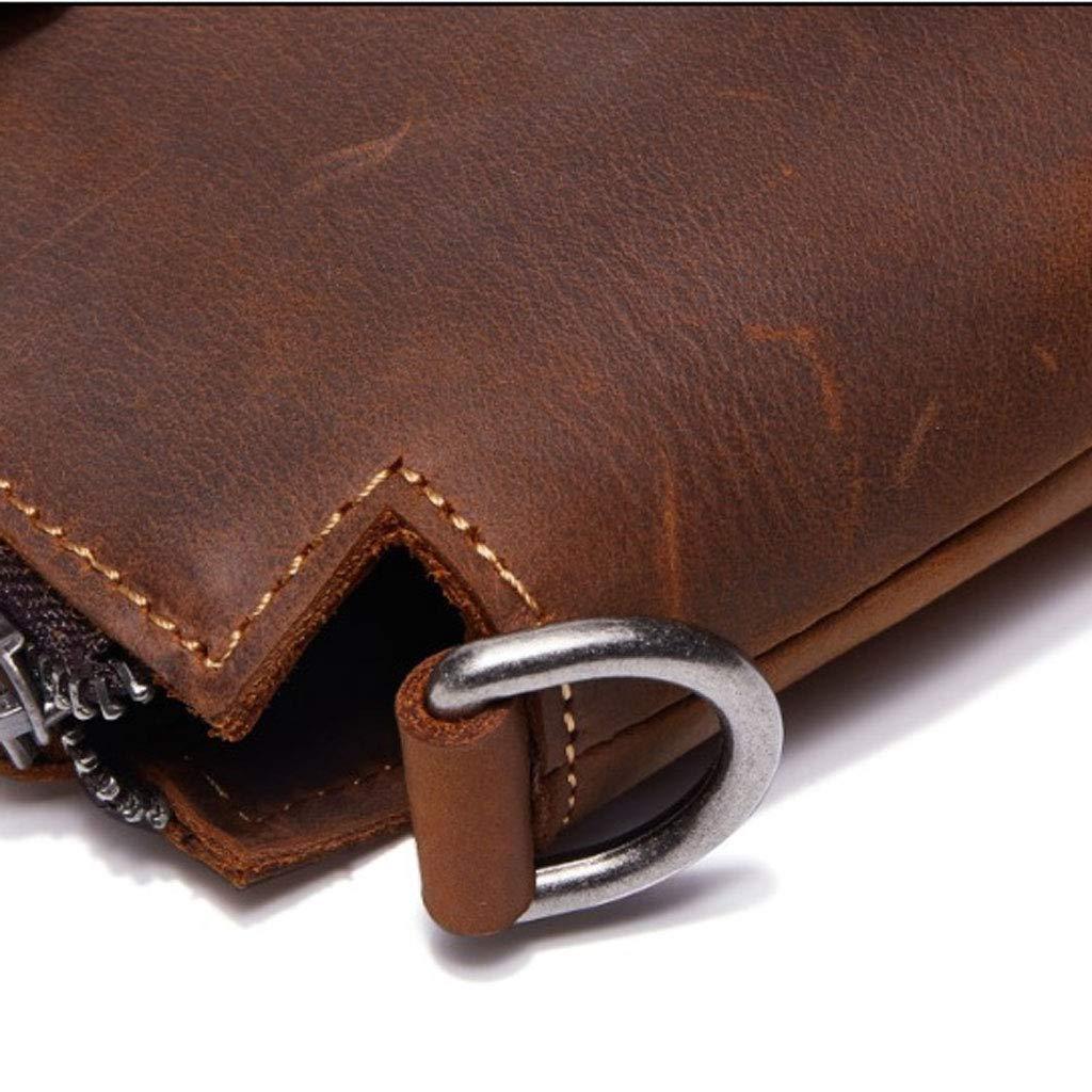 YYYTS Briefcase Handbag Mens Retro Shoulder Diagonal Package Color : Brown, Size : M