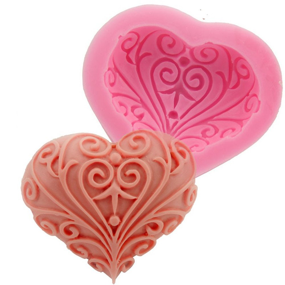 Gluckliy Heart Shape Silicone Mould Fondant Sugarcraft Cake Decorating Tools Kitchen Accessories Bakeware Baking Accessories fangqiang