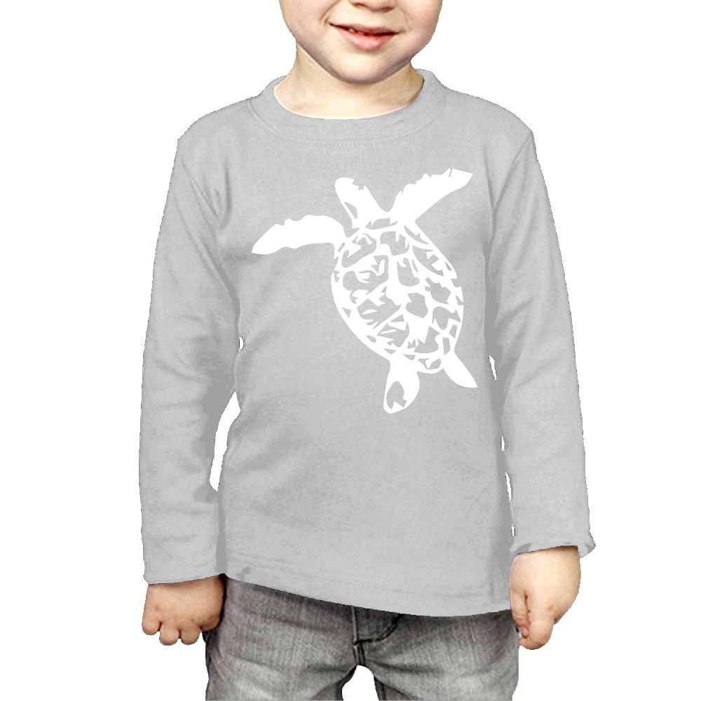 Baby Girls Little Boys Simple Sea Turtle ComfortSoft Long Sleeve Tee
