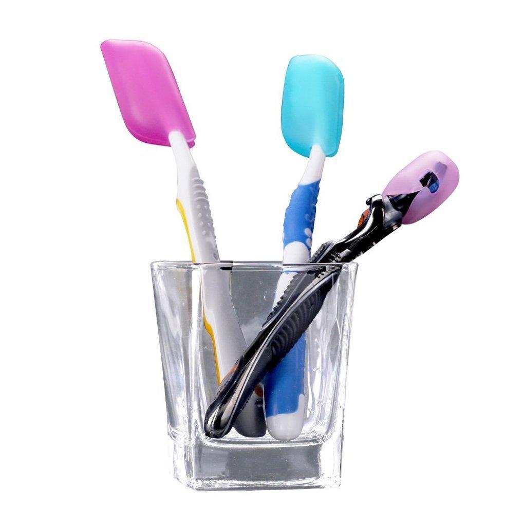 enking Flexible Silicona Cepillo de dientes abarca (Pack de 6): Amazon.es: Hogar