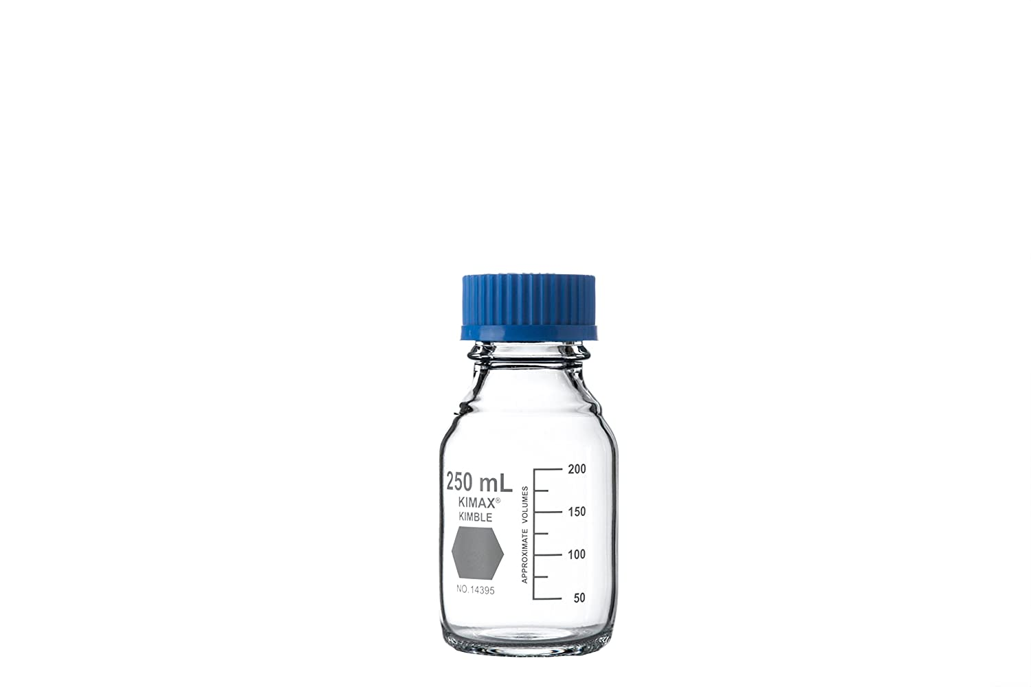Neolab 1  Laboratory Bottles, Kimax GL45  Boro 3.3  Screw Cap, Blue, 100  ml Kimax GL45 Boro 3.3 Screw Cap 100 ml 1-0195