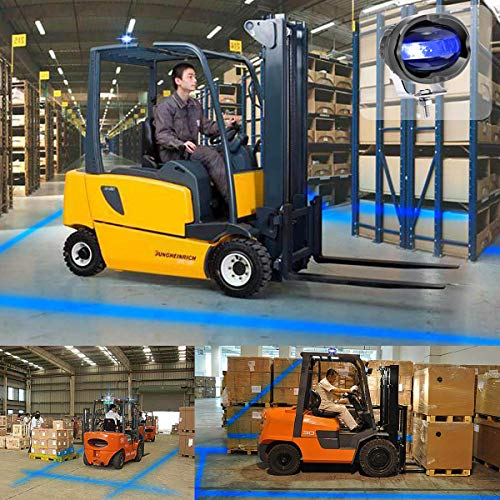 KAWELL 8W Cree Blue LED Forklift Safety Light Updated Straight Line Warehouse Safe Warning Light Blue Zone Danger Area Truck Security Indicator Safety Lights