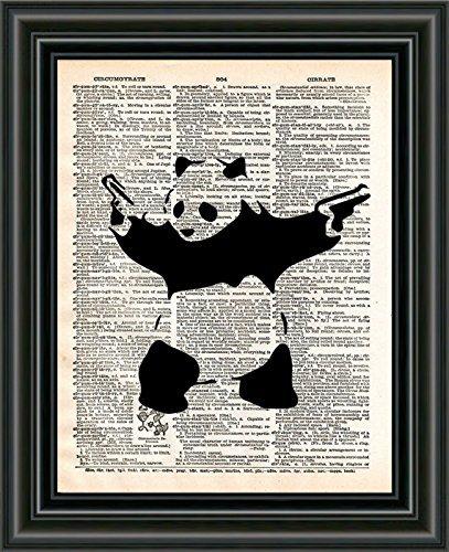 Banksy Art Panda With Guns Panda Bear Art Graffiti Artwork Funny Panda