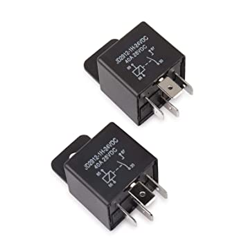 Ehdis® Coches relé 4 Pin 24v 40amp Spst Modelo No .: JD2912-1H-40A 24VDC 28VDC de los detectores magnéticos y Entrantes, Paquete de 2: Amazon.es: Coche y ...