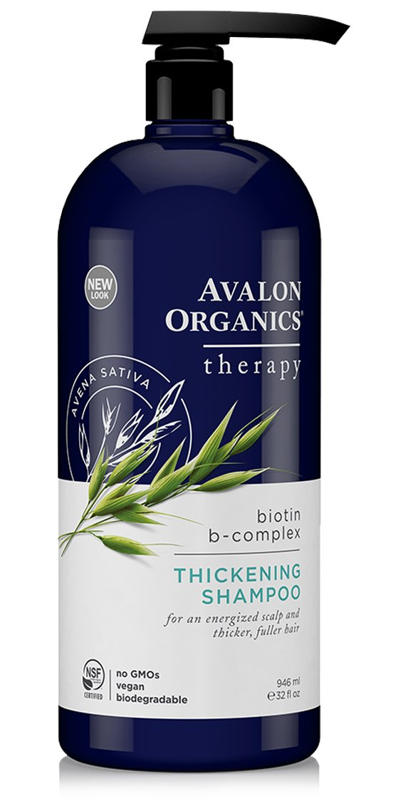 Avalon Organics Thickening Shampoo Biotin B-Complex Therapy - 32 fl oz S1163179N