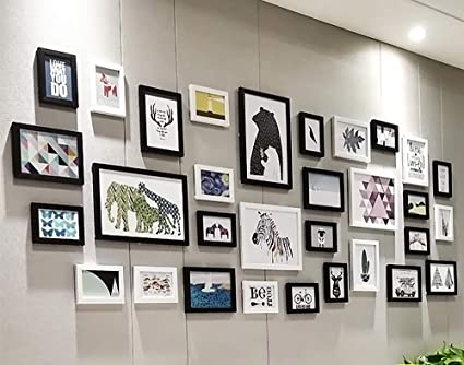 ArtzFolio Wall Photo Frame D36 Multicolor 4x6-18pc;5x7-9pc;6x6-2pc;8x10-2pc;Set of 31 PCS
