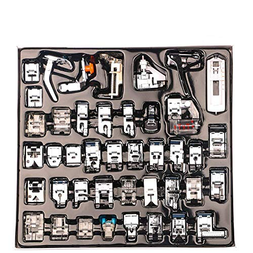 Lock Machines Baby - COCODE 42Pcs Domestic Sewing Machine Presser Foot Feet Kit Set for Brother, Baby Lock, Singer, Elna, Toyota, New Home, Janome, Kenmore and White Low Shank Sewing Machine