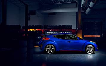 Hyundai Veloster Turbo R-Spec (2015) Car Art Poster Print on 10 mil