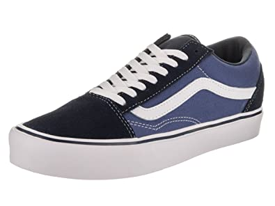 c3b02bffb4 Vans Unisex Old Skool Lite (Suede Canvas) Navy White Skate Shoe 5