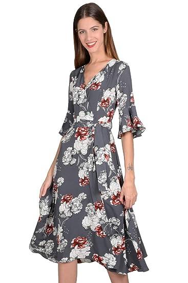 fa778a4129b24 MOLLY BRACKEN Robe Portefeuille à Fleurs  Amazon.fr  Vêtements et  accessoires